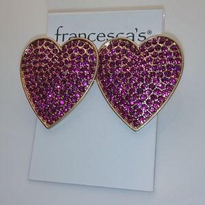 🌹 4/$25 Francesca's Heart Earrings
